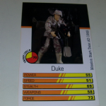 Action Man Power Cards 1996 Duke Trading card @sold@